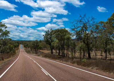 australien strasse gerade himmel