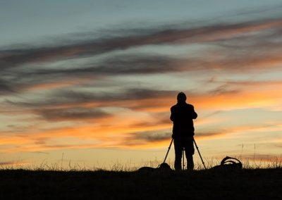 fotograf stativ wolken daemmerung