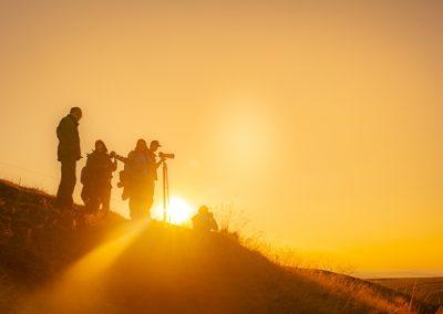 Fotografen Sonne Gelb Silhouette