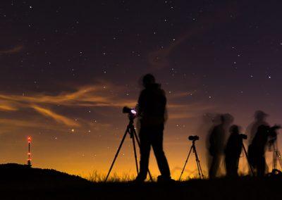 Fotografen Totenkopf Sterne Wolken