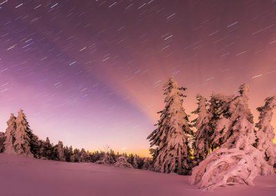 licht winter sterne spuren