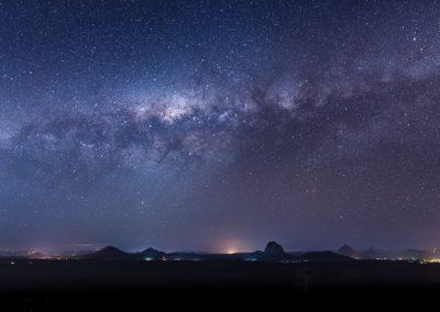 milchstrasse australien glashouse mountain