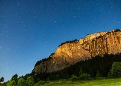 sterne alpen vollmond nacht
