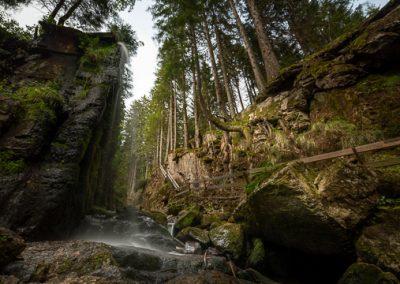 Wasserfall Menzenschwand Sonne Wald