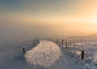 Weg Sonne Schnee
